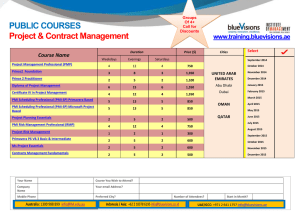 PUBLIC COURSES  www.training.bluevisions.ae Course Name