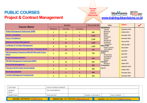 PUBLIC COURSES  www.training.bluevisions.co.id Course Name
