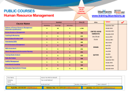 PUBLIC COURSES Human Resource Management  www.training.bluevisions.ae