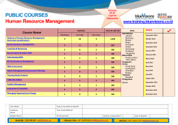 PUBLIC COURSES Human Resource Management  www.training.bluevisions.co.id