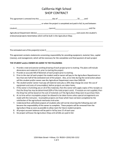 SAE Project Agreement