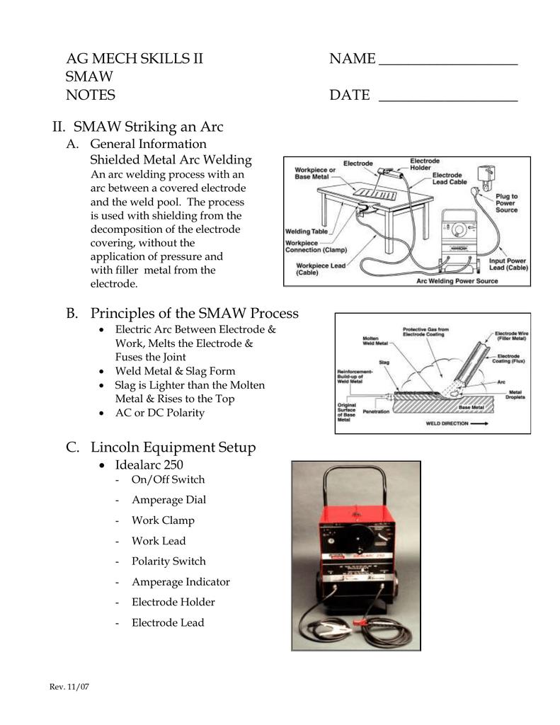 Teachers Notes Arc Welding Process Diagram