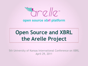 Open Source and XBRL the Arelle Project open source xb platform
