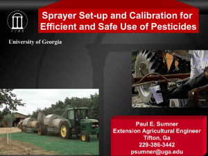 Orchard Sprayer Set-up and Calibration for Efficient and Safe Use of Pesticides