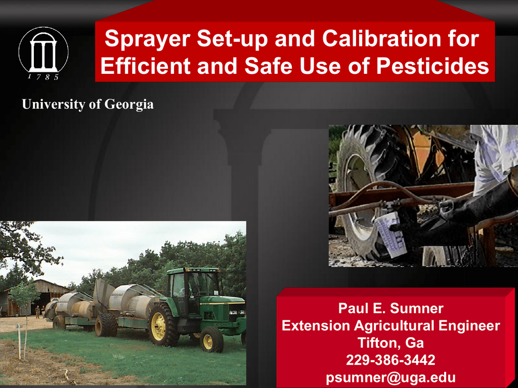 Orchard Sprayer Set-up and Calibration for Efficient and