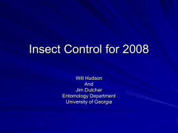 2008 County Meeting Insect Update