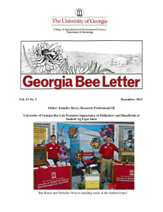 Vol. 23 No. 2 December, 2012 Editor: Jennifer Berry, Research Professional III