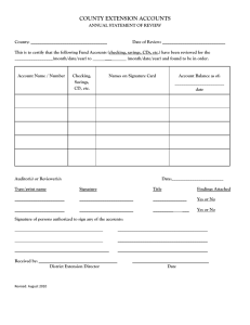 Annual Statement of Review form