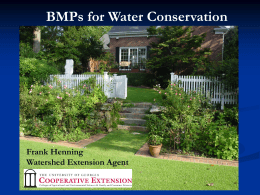 BMPs for Water Conservation