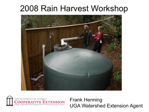 2008 Rain Harvest Workshop