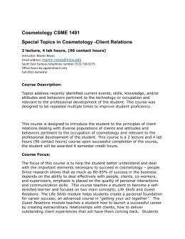 cosmetology essay topics