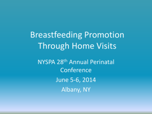Breastfeeding Promotion Through Home Visits