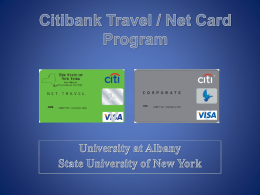 New York State Travel Card PowerPoint