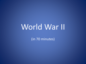 POWERPOINT – ORIGINS OF WORLD WAR II