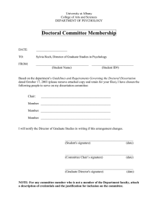 Doctoral Committee Membership Notification Form
