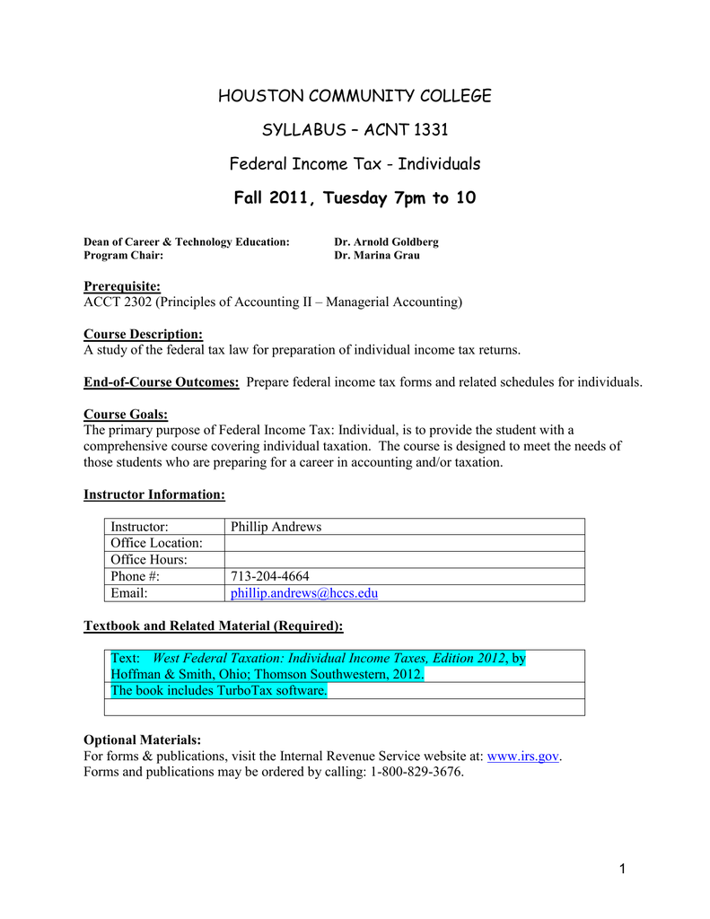 Individual Taxation Fall 2011 Syllabus.doc