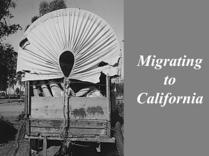 Migrating to California