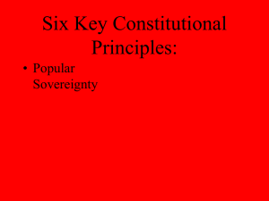 Six Key Constitutional Principals