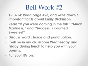 Bell Work #2 January 13-17