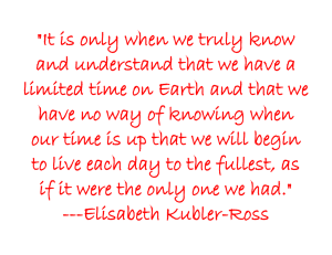 """It is only when we truly know"