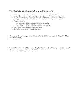 Colligative properties calculations