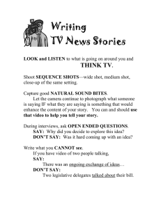 Writing TV News Stories THINK TV
