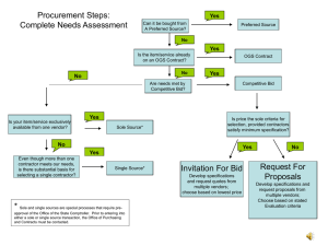 Procurement Steps: Complete Needs Assessment Yes