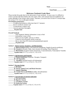 Reference notebook grade sheet