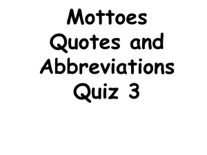 Mottoes p. 3 quiz