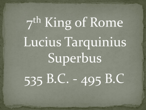 7 King of Rome Lucius Tarquinius Superbus