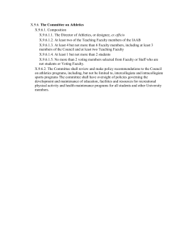 The Committee on Athletics X.9.6.1. Composition ex officio
