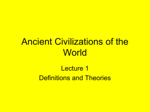 Lecture 1 Definitions and Theories