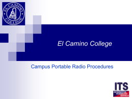ECC Radio Procedures - PowerPoint Show