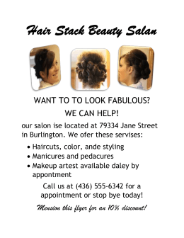 Hair Stack Beauty Salan WANT TO TO LOOK FABULOUS? WE CAN HELP!