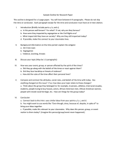 Sample Outline for Research Paper