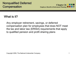 Nonqualified Deferred Compensation What is it?