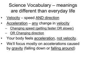– meanings Science Vocabulary are different than everyday life