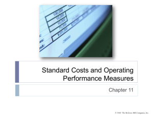 Standard Costs and Operating Performance Measures Chapter 11