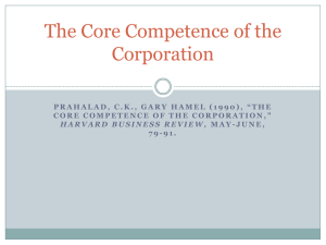 Prahalad and Hammel-Core Competence