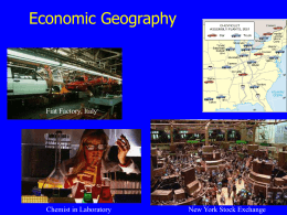 Lecture - Economic Geography