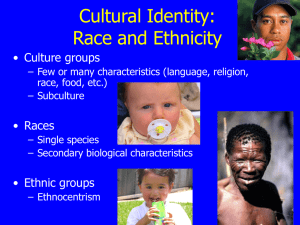 Lecture - Ethnicity and Race