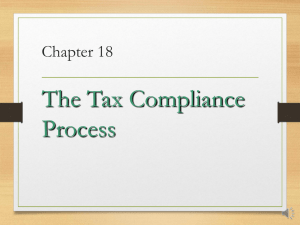 The Tax Compliance Process Chapter 18