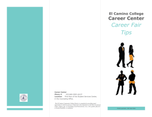 Career Fair Tips Career Center El Camino College