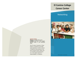 El Camino College Career Center Networking