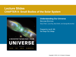 Lecture Slides CHAPTER 9: Small Bodies of the Solar System S