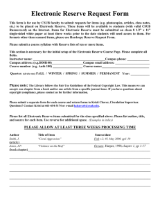 E-Reserve Request Form in Word
