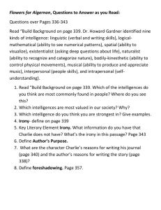 Flowers for Algernon Questions over Pages 336-343