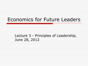 Enterprise College - Leadership Lecture 3