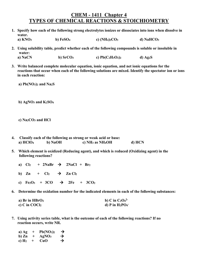 1411 Chapter 4 Practice Problems Doc