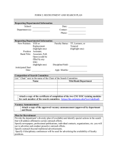Recruitment Search Plan Form 2